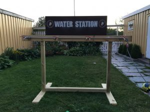 Customized water station for OCR competitions.